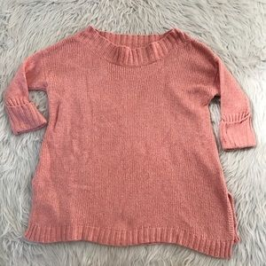 Free People Pink Chunky Oversized Sweater